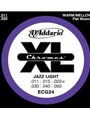 String--guitar  D'addario Chromes - Jazz Light - Nickel/flat