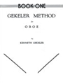 Gekeler Method For Oboe Bk 1