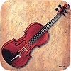 Coaster--violin/square