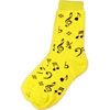 Socks - Black Notes on Neon Yellow