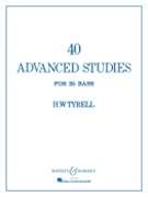 40 Advanced Studies For B-flat Bass