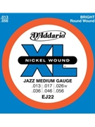 String--guitar  D'addario Xl Jazz Ej22 - Medium - Nickel/round